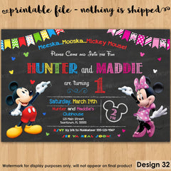 graphic relating to Printable Mickey Mouse Invitations identified as Invites Young children Occasion Printables Invites