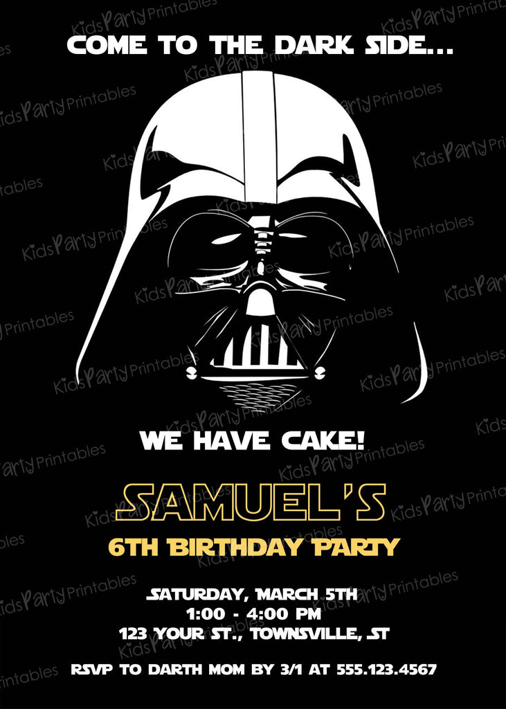 photograph relating to Printable Star Wars Invitation named Invites Little ones Social gathering Printables Invites