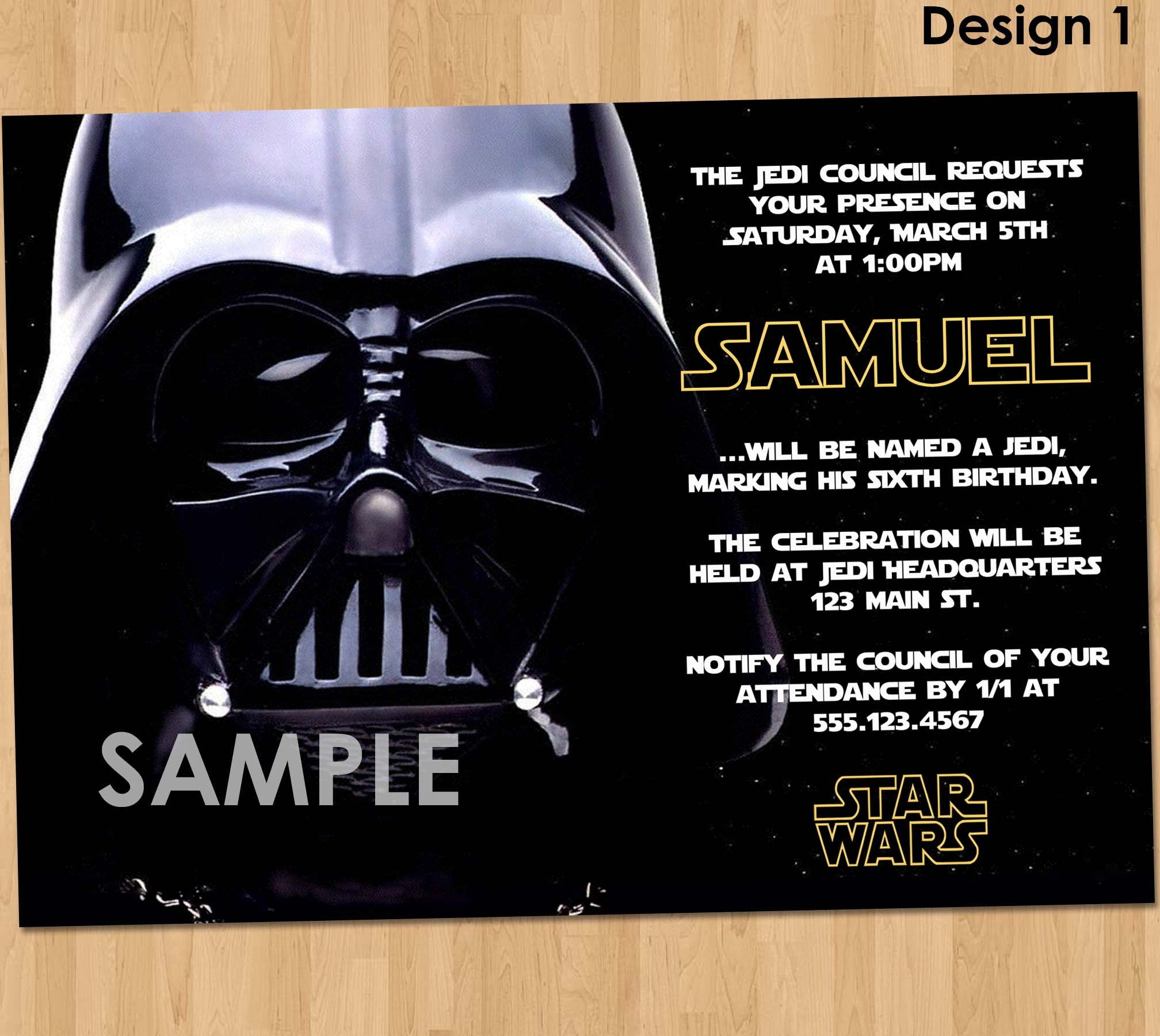 picture about Printable Star Wars Birthday Invitations known as Star Wars Get together Invitation - Star Wars Celebration Printable - Star Wars Invitation - Star Wars Birthday Social gathering - Darth Vader Birthday Celebration