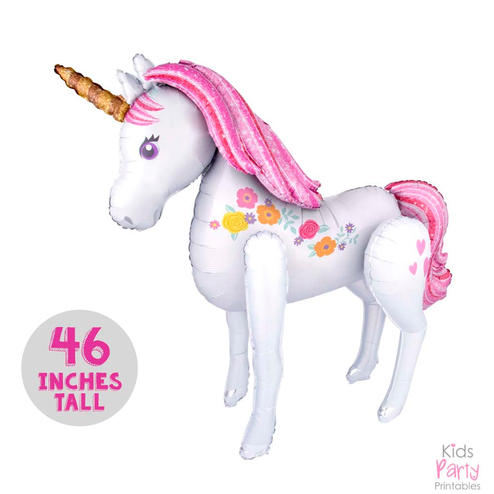 Unicorn Balloon Big 46 In Pink Pastel Color Party Decorations Birthday Supplies Baby Shower Decor Theme 1st