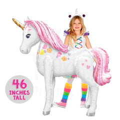 Unicorn Balloon Big 46 In Pink Pastel Color Party Decorations