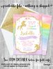 Unicorn Invitation Printable, Unicorn Invitation Digital JPG or PDF, Unicorn Birthday Party Invitation, Unicorn Invite Rainbow Pastel Theme
