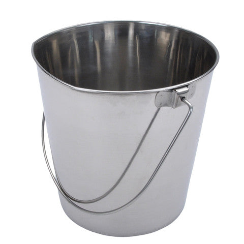 Bergan® Flat-Sided Stainless Steel Pail 24 Cup (192 oz.) - Dog Sport Supply Company