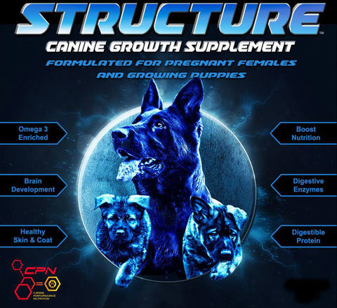 Structure® - Canine Growth Supplement for Puppies and Pregnant Females - 4 Pounds - Dog Sport Supply Company