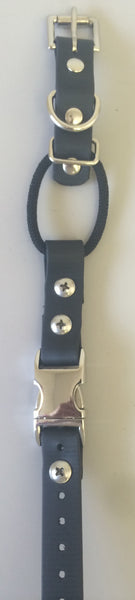 "1"" Quick Snap Biothane Buckle Collar with Bungee - Dog Sport Supply Company"