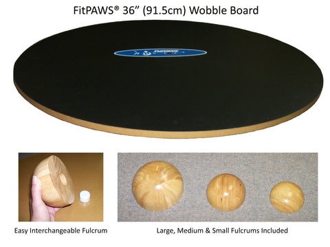 FitPAWS® Wobble Board 36 - Dog Fitness & Canine Rehab Equipment - Dog Sport Supply Company