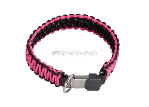 Herm Sprenger® Paracord  Reflecting Collar - Pink 60cm(24in) - Dog Sport Supply Company