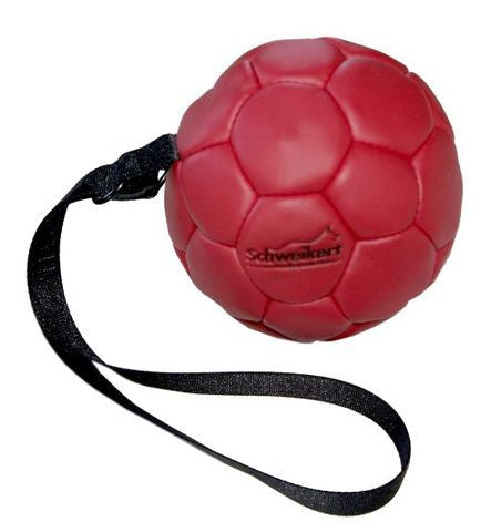 Schweikert® Leather ball, with loop - Dog Sport Supply Company