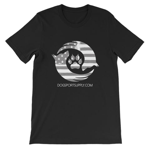 Dog Sport Supply Company - Patriotic T-Shirt Grey Logo - Dog Sport Supply Company