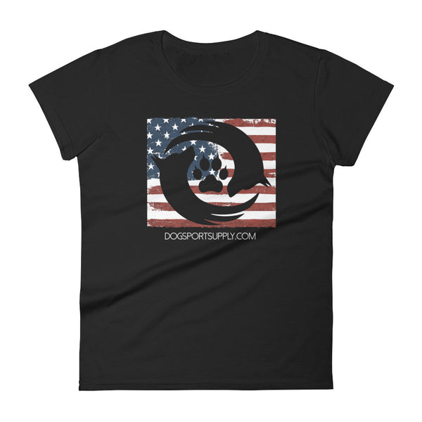 Dog Sport Supply Company - Women's USA Flag T-Shirt - Dog Sport Supply Company