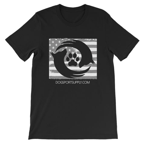 Dog Sport Supply Company - USA Grey Flag T-Shirt - Dog Sport Supply Company