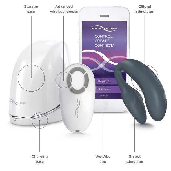 We-Vibe 4 Plus vibrator til par skifer