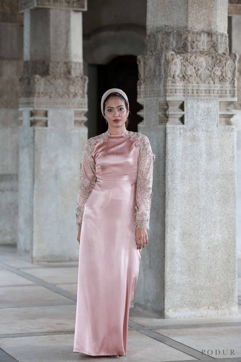 French Rose evening dress