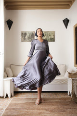 Grey Berry Dress