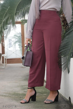 Wide legged Burgundy Trousers