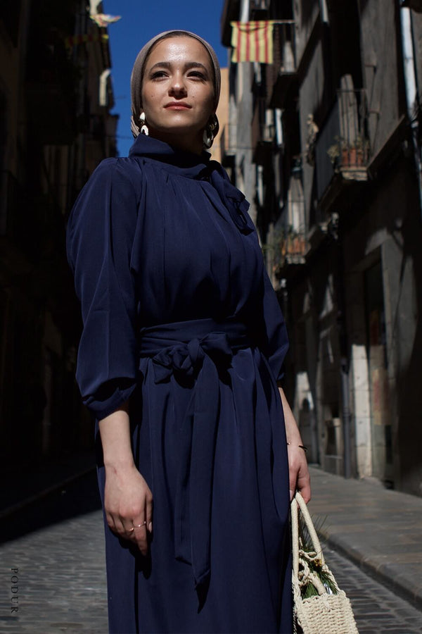 Night Out Midi Dress (Navy)