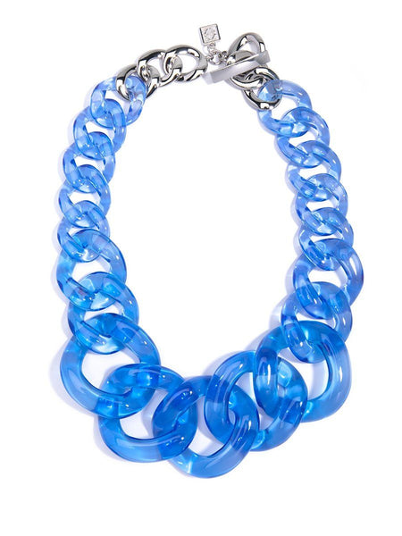 Blue Chunky Lucite Necklace