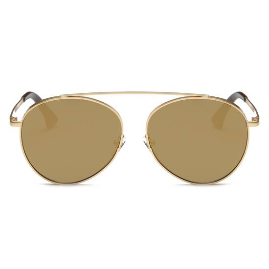 Amber Aviator Sunglasses
