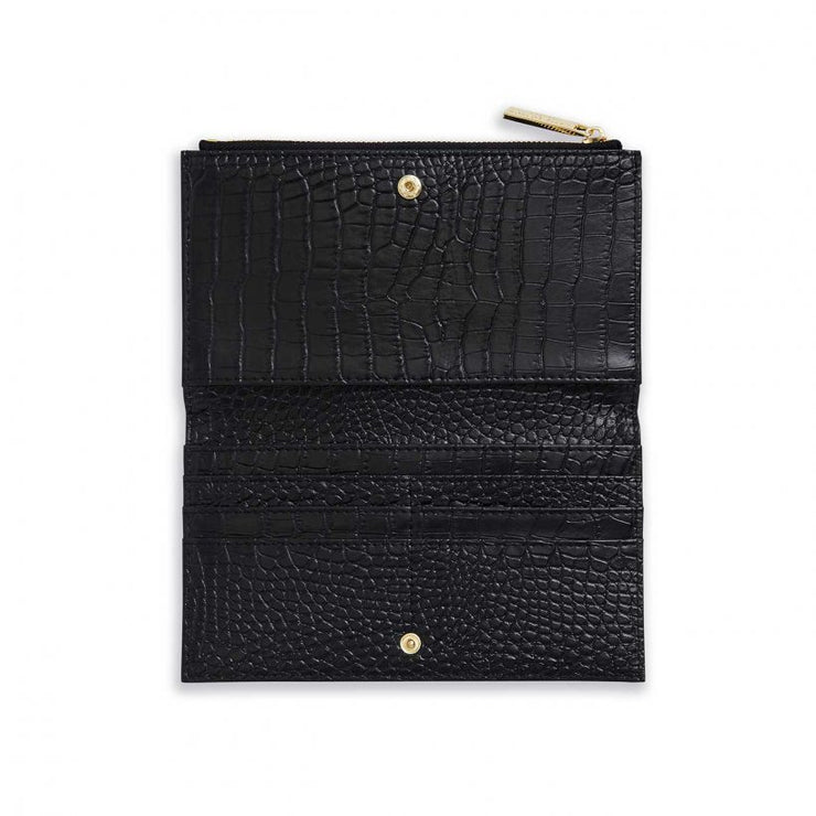 Croix Faux Croc Fold Out Wallet