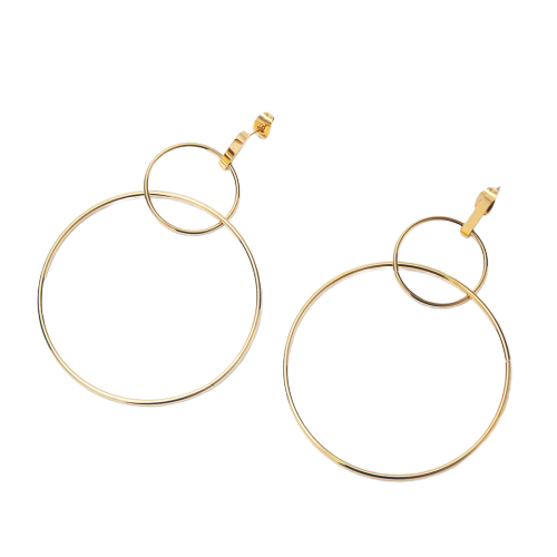 Cher Dangle Hoop Earrings - Love Peridot