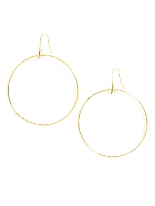 Love Peridot Gold Classic Hoops