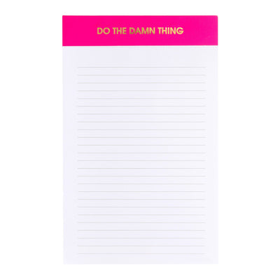 Do The Damn Thing Notepad