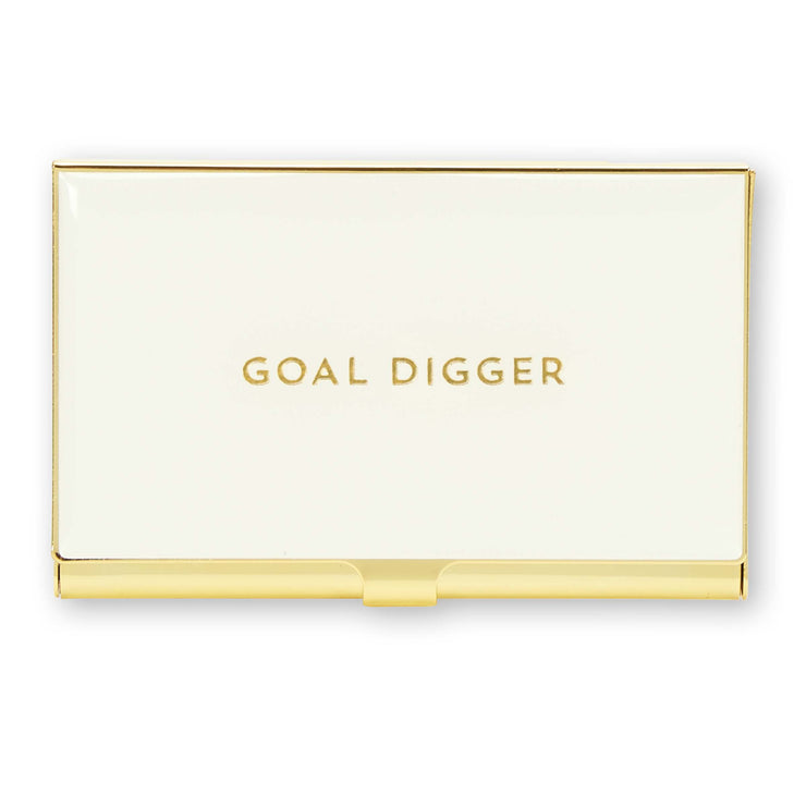 Goal Digger Business Card Holder - Love Peridot