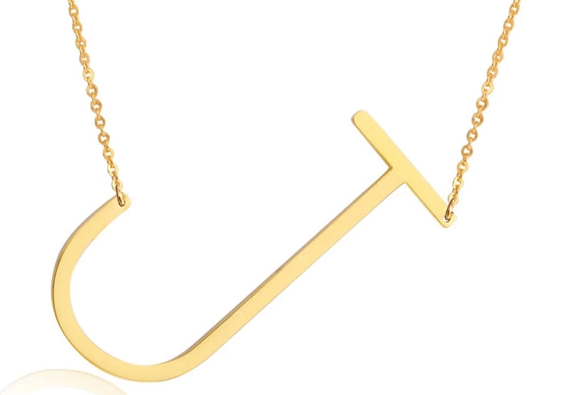 Sideways initial necklace love peridot gold sideways initial necklace aloadofball Images