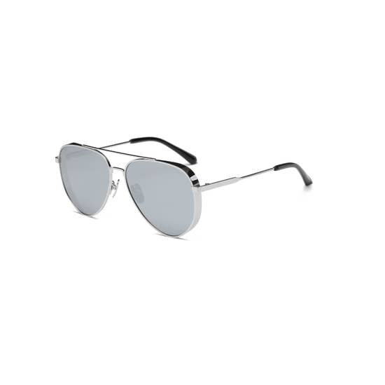 Love Peridot Grey Aviator Sunglasses