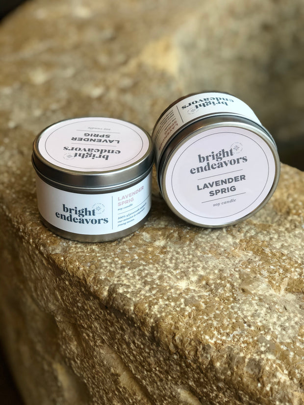 Bright Endeavors Tin Candle
