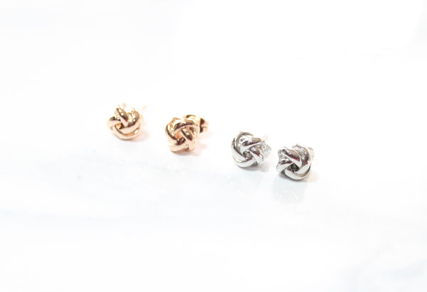 Love Peridot Knot Your Stud Earrings