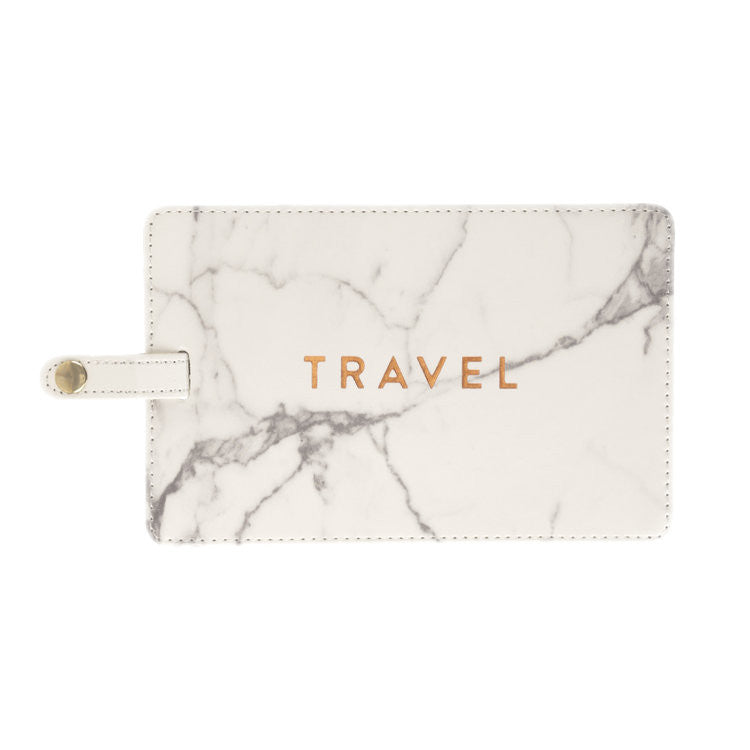 Love Peridot Marble Luggage Tag
