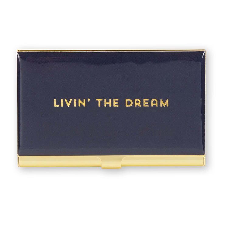 Livin' The Dream Business Card Holder - Love Peridot