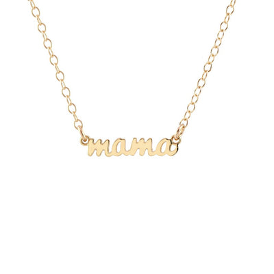 Mama Script Necklace - Love Peridot