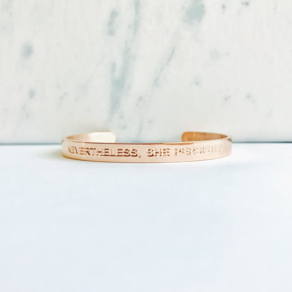 She Persisted Inspo Cuff - Love Peridot