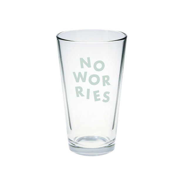 No Worries Pint Glass - Love Peridot