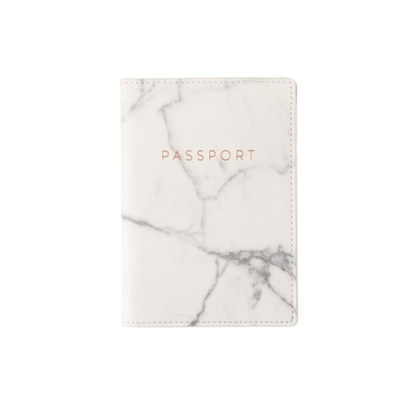 Love Peridot Passport Cover - Marble Rose Gold