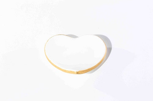 Heart Shaped Ring and Trinket Ceramic Dish
