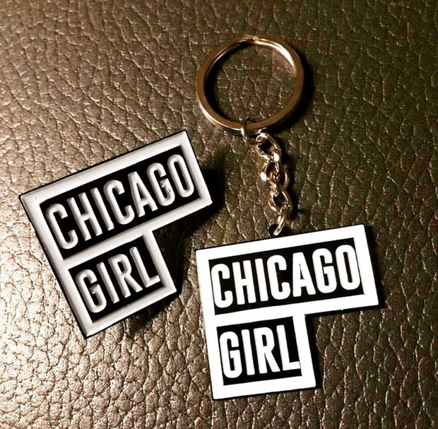 Chicago Girl Enamel Pin