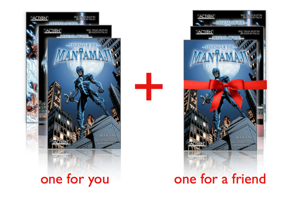 Legend of the Mantamaji Superhero Graphic Novel BOGO Bundle