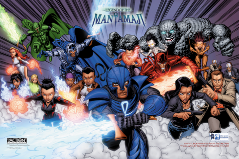 Legend of the Mantamaji Group Action Poster