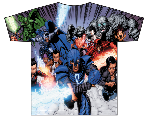 legend of the mantamaji allover superhero t shirt back