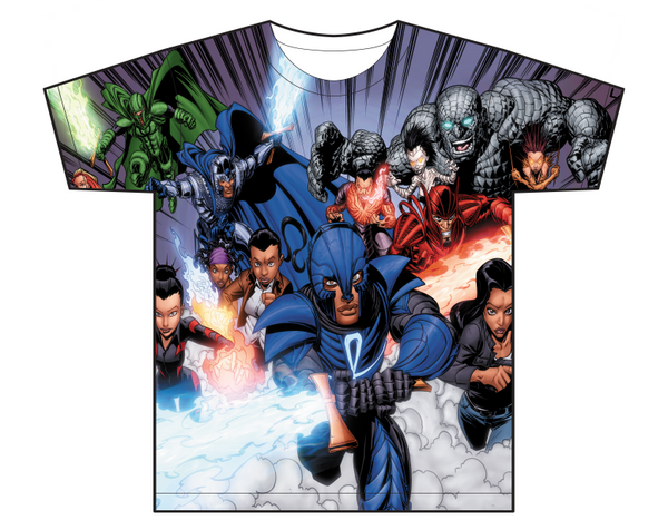 legend of the mantamaji allover superhero t shirt front