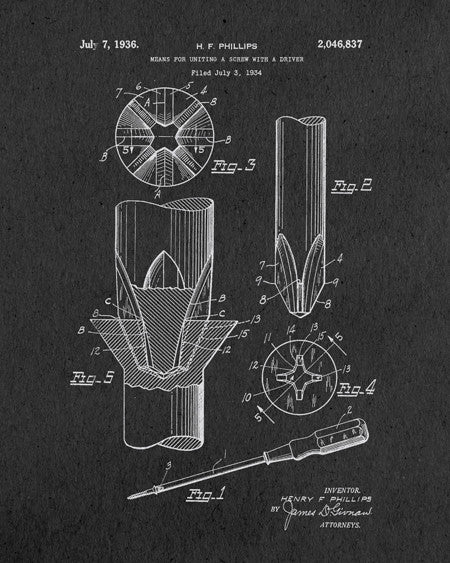 Screwdriver Patent Print - IndustrialPrints