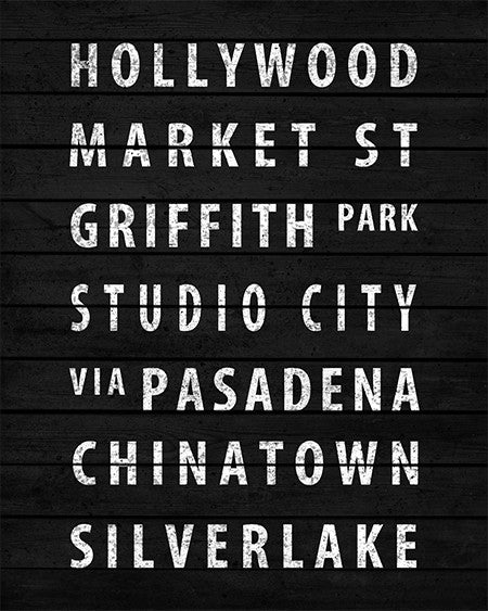 Vintage Los Angeles Subway Sign Print - IndustrialPrints