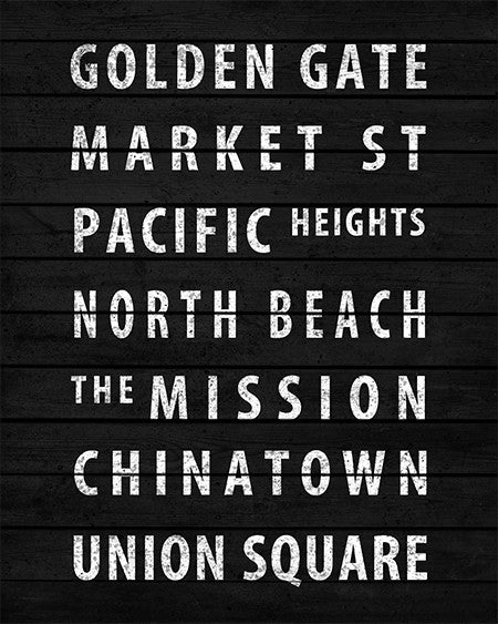Vintage San Francisco Subway Sign Print - IndustrialPrints
