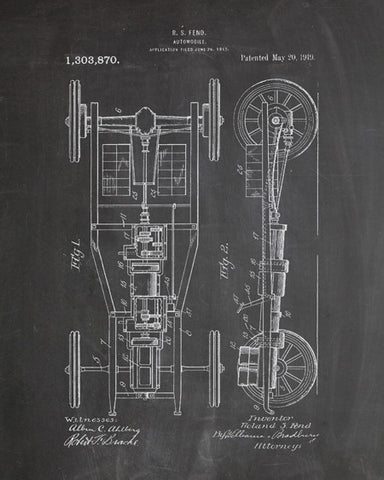 Automobile Patent Print - IndustrialPrints