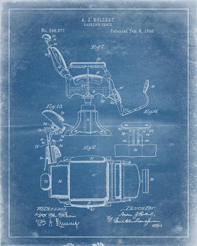 Barber's Chair Patent Print - IndustrialPrints