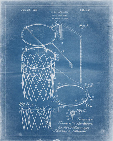Basketball Hoop Patent Print - IndustrialPrints