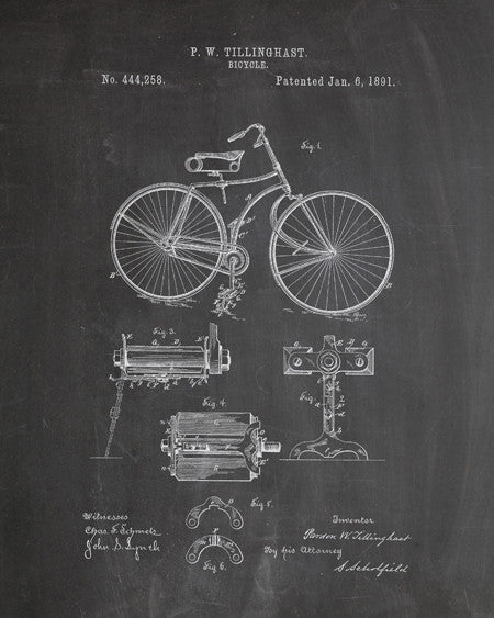 Bicycle Patent Print - IndustrialPrints